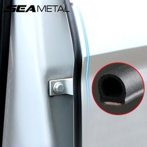 2pcs Car Door Rubber Seal Strip Auto Filler Weatherstrip Edge Rubber Sealing For B Pillar Protection Front Door Sealant For Cars