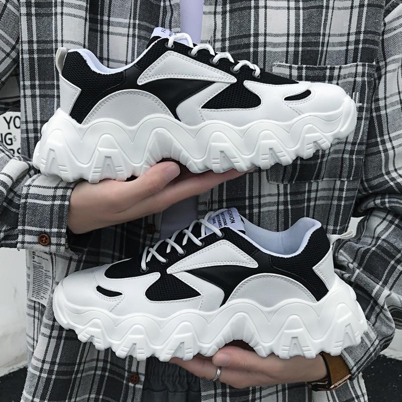 Весенняя Мужская обувь; дышащая легкая обувь из сетчатого материала; удобная мужская повседневная обувь на плоской подошве; мужские модные кроссовки; Лидер продаж; обувь для ног