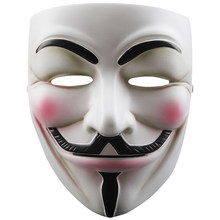 V für Vendetta Anonymous Guy Fawkes Harz Cosplay Maske Party Kostüm Prop Spielzeug(China)
