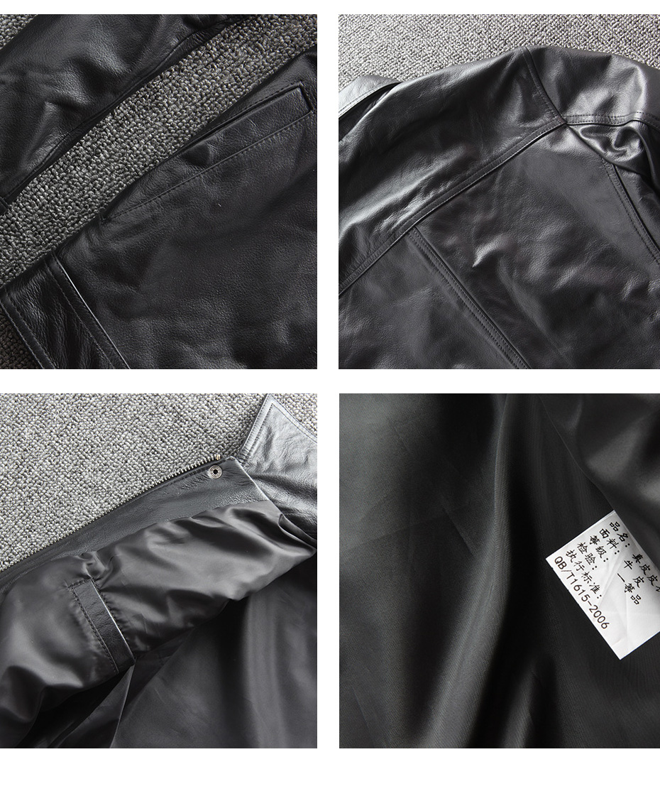 H806886464e0a4ce893d801abebd557b0y CARANFIER DHL Free Shipping Mens 100% Cowhide Genuine Leather Jacket High quality old retro motorcycle leather jacket 3XL