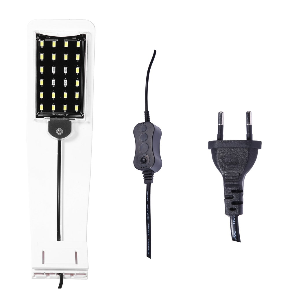 X5B EU Plug Super Slim LED Aquarium Light Plants Grow Light Aquatic Plant Lamp Waterproof Clip-on Lamp For Fish Tank