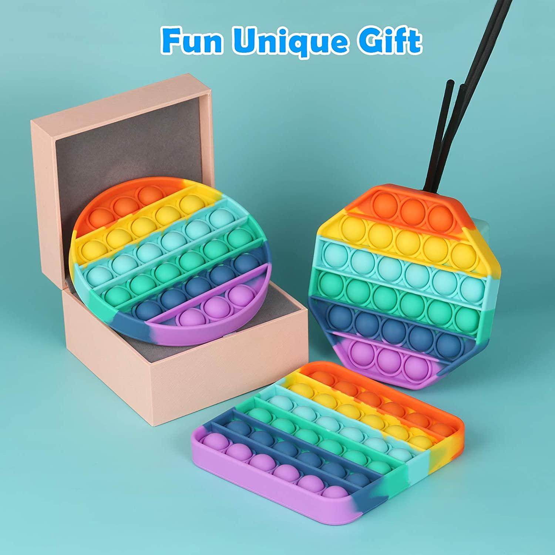 Poping Up Blase Squeeze Sensorischen Spielzeug Silikon Stressabbau Push Pop Squeeze Spielzeug Squeeze Sensorischen Spielzeug Für Kinder Mit Hinzufügen