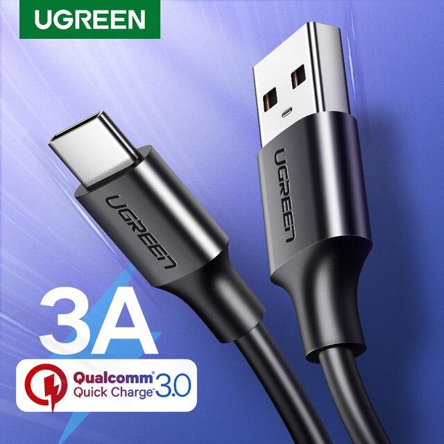 Ugreen USB Tipo di Cavo C per Xiaomi Redmi Nota 7 mi9USB C Cavo per Samsung S9 Veloce Cavo di Ricarica USB-C Carica Del Telefono 1