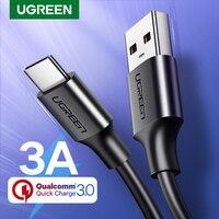 Ugreen USB نوع C كابل الشاحن ل Redmi نوت 8 سامسونج تهمة سريعة 3.0 USB C سريع كابل شحن USB نوع C سلك لهواوي-في كابلات الهاتف المحمول من الهواتف المحمولة ووسائل الاتصالات على