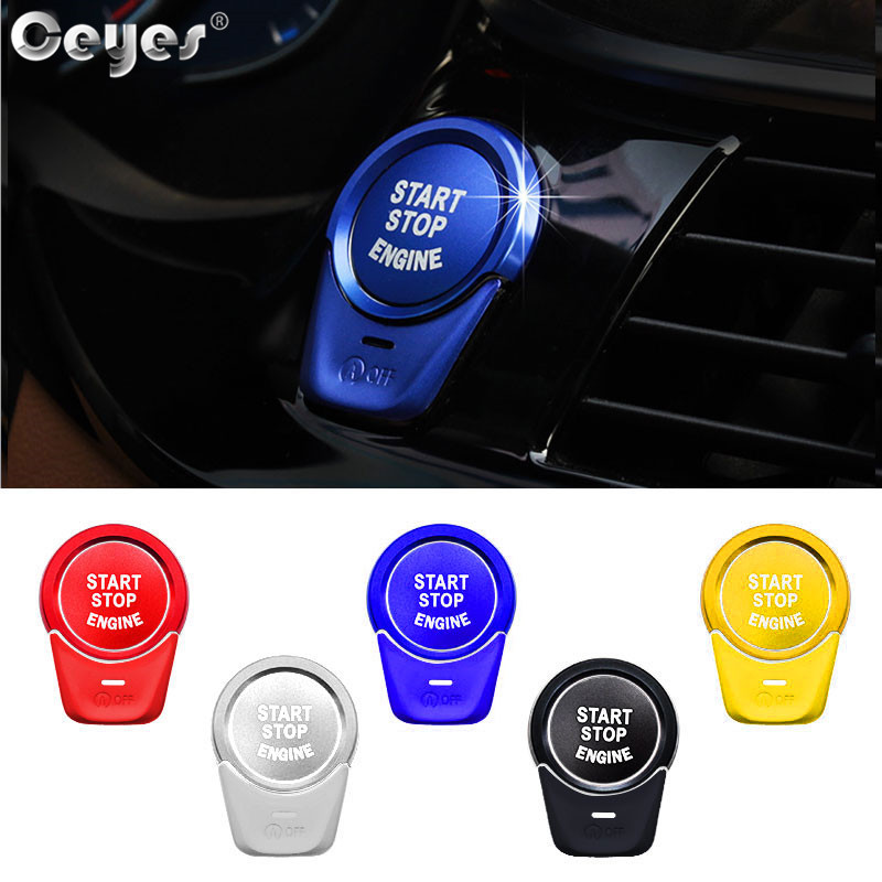 Engine Ignition Start Stop Push Button Ring Trim For BMW E90 3 Series 2004-2012