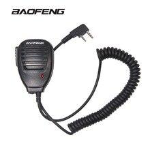 Радио портативный микрофон динамик микрофон для рации рации UV-5R портативный двусторонний радио UV 5R BF-888S PTT наушники аксессуары