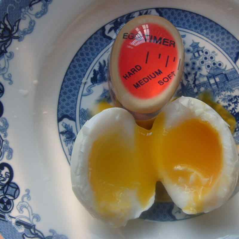 Oeuf En Forme De Oeuf Minuterie Couleur De Charge Capteur De Chaleur Cuisine Gadget