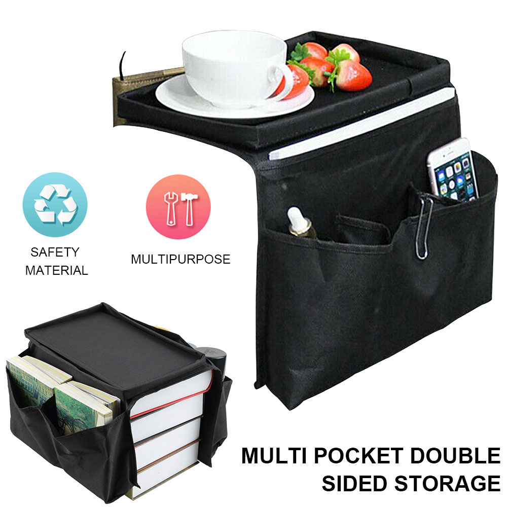 6 <font><b>Pocket</b></font> Foldable <font><b>Sofa</b></font> Chair Arm Organiser Bag Large Capacity Space Saver Non-slip <font><b>Sofa</b></font> Storage Bag <font><b>for</b></font> <font><b>Remote</b></font> Control Magazine image