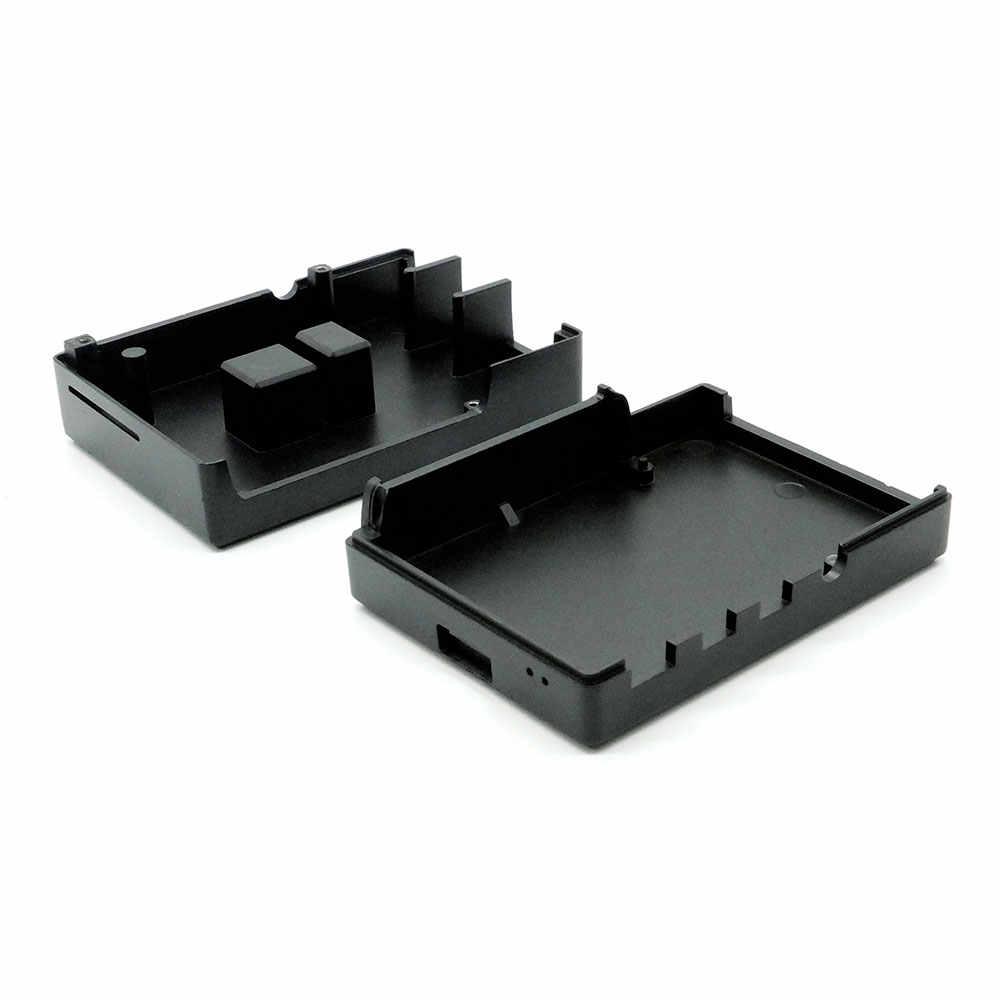Raspberry Pi 4 Modell B Schwarz Dunkelgrau Aluminium Legierung Fall Passive Kühlung Shell Metall Gehäuse Wärmeableitung für Pi 4
