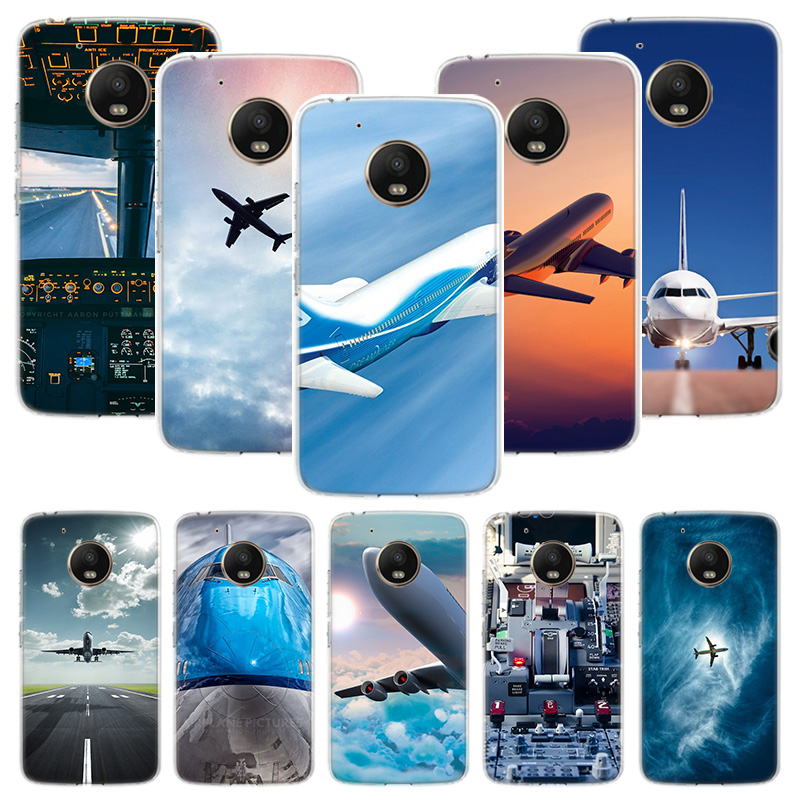 Aircraft Plane Airplane Phone Case For Motorola Moto G7 G8 G6 G5S G5 E6 E5 E4 Plus Power G4 Play X4 One Action EU Customized