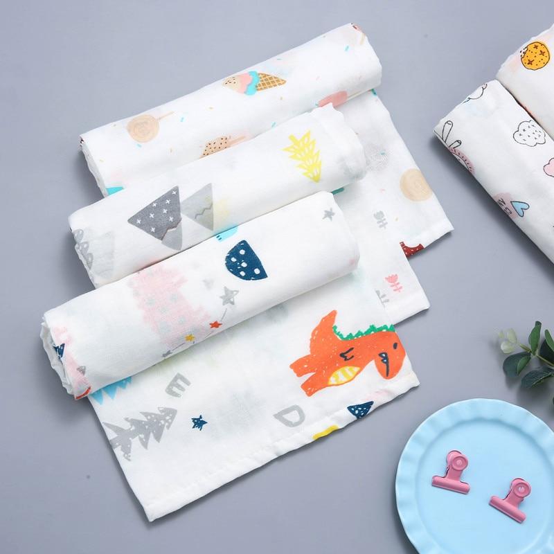 75x75cm Muslin Squares Newborn Cotton Baby Blanket Muslin Swaddle Wrap Infant Toddlar Diapers Muslin Blankets Gauze Bath Towel