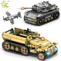 1061Pcs Tank Military WW2 Chariot Toys Building Blocks Legoing Weapons Tank Blocks Enlighten Bricks Figures Toys For Children