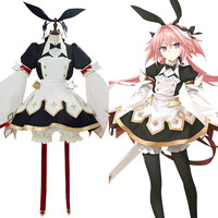 FGO Fate Grand Order Astolfo Saber Cosplay Costume Sword Version 3.0 Combat Gear Maid Dress Uniform