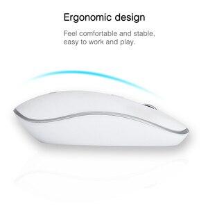 Image 3 - SeenDa 2,4G Беспроводная Бесшумная клавиатура и мышь Мини Мультимедиа полноразмерная клавиатура мышь комбо набор для ноутбука настольного ПК