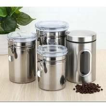 3 шт Нержавеющаясталь банка для хранения Чай бак Кофе хранилища