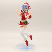 Anime Re Life In A Different World From Zero Remu Christmas Ver PVC Action Figure Collectible Model doll toy 23cm 1 4 scale re life in a different world from zero rem ram bunny ver kneeling ver resin naked collection anime figures