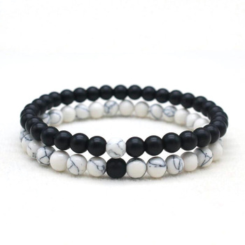 bracelet couple black and white