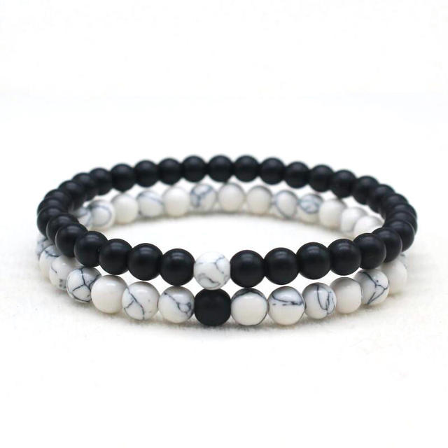 bracelet couple black and white