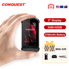 CONQUEST Mini Phone F2 IP68 Waterproof Rugged Smartphone Mobile