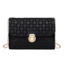 New Fashion Ladies Women Fashion Satchel Simple Solid Color Chain Square Pack with Lock
