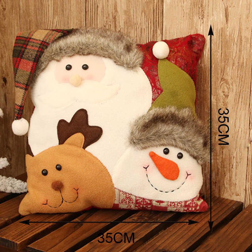 クリスマスクッションカバー星型ホームデコレーションクリスマスプリント枕亜麻クッション腰椎クリスマス枕カバー