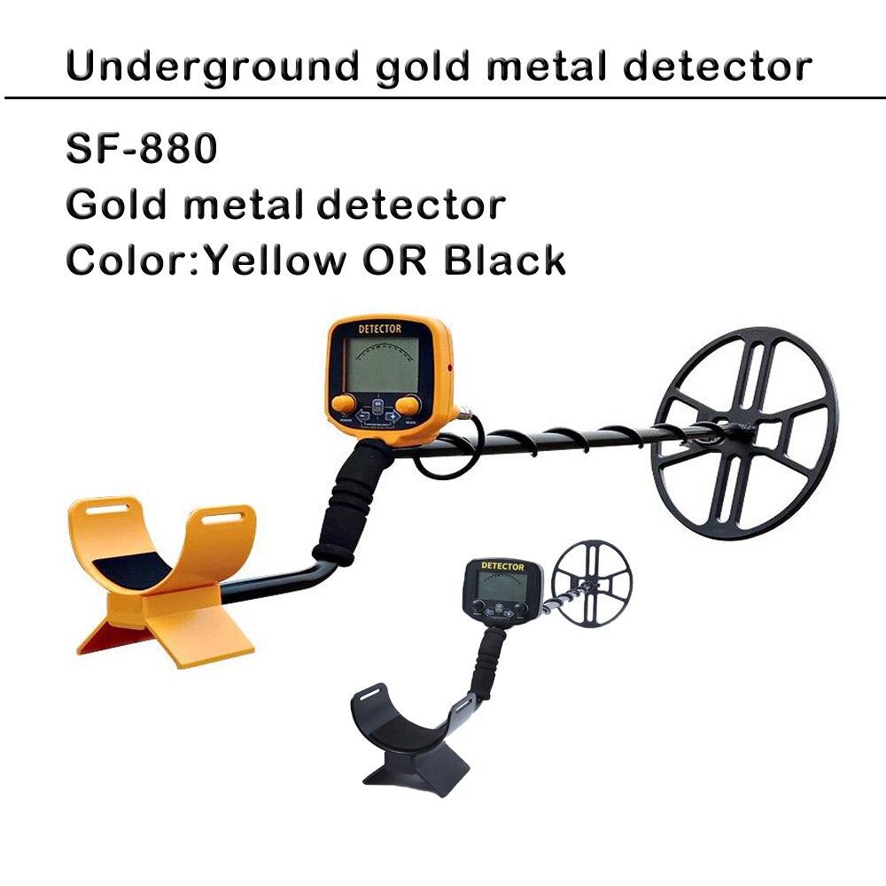 SF-880 de détecteur de métaux de sensibilité élevée d'expédition rapide, profondeur souterraine ultrasonique détecteur de métaux d'or de chasse au trésor de 5m