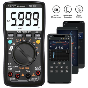 BSIDE Professional Auto/Manual Digital Multimeter 6000 Counts LCD True RMS Smart Voltage Current Frequency Temperature Meter