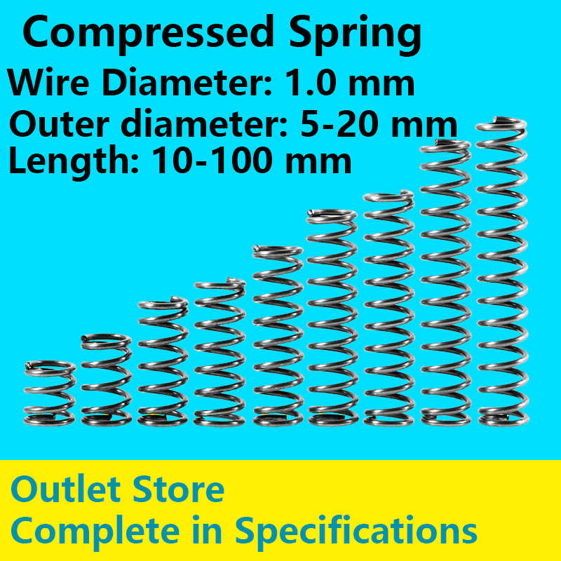 Wire Dia 1.2mm OD 11-15mm Helical Compression Spring Variations Size /& Prices