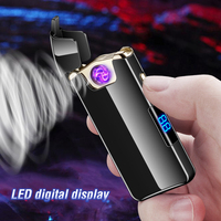 Rotate Fire USB Electronic Cigarette Lighter Windproof Metal Plasma Arc Lighters Rechargeable Electric Encendedor Gadget for Men