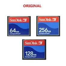 Cartão de memória sandisk cf, original, 64mb, 128mb, 256mb