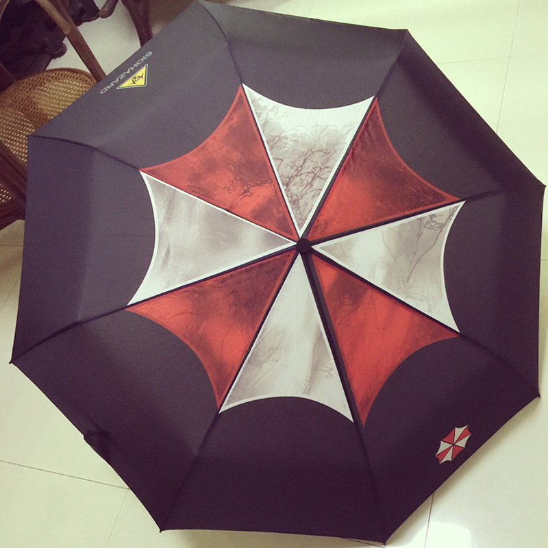 Resident Evil Biochemical 6 Umbrella Theme Umbrella Lyon Animated All Weather Umbrella Three fold Umbrella|Umbrellas| |  - title=