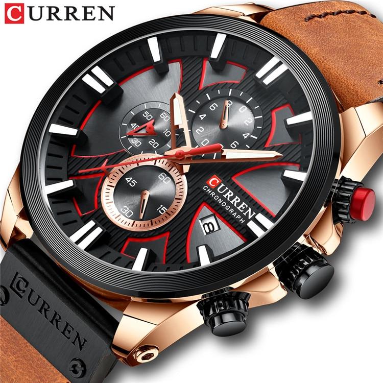 New CURREN Men Watches Fashion Quartz Wrist Watches Men's Military Waterproof Sports Watch Male Date Clock Relogio Masculino 9