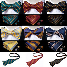 Formal Dress Tuxedo Bow Tie Handkerchief Men's Self Tie Bow