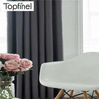 Topfinel Luxury Modernas cortinas de la sala de estar Monochrome Thick Blackout Curtains para la cocina Habitaciones de la sala de estar Nuevas cortinas de algodón sólido