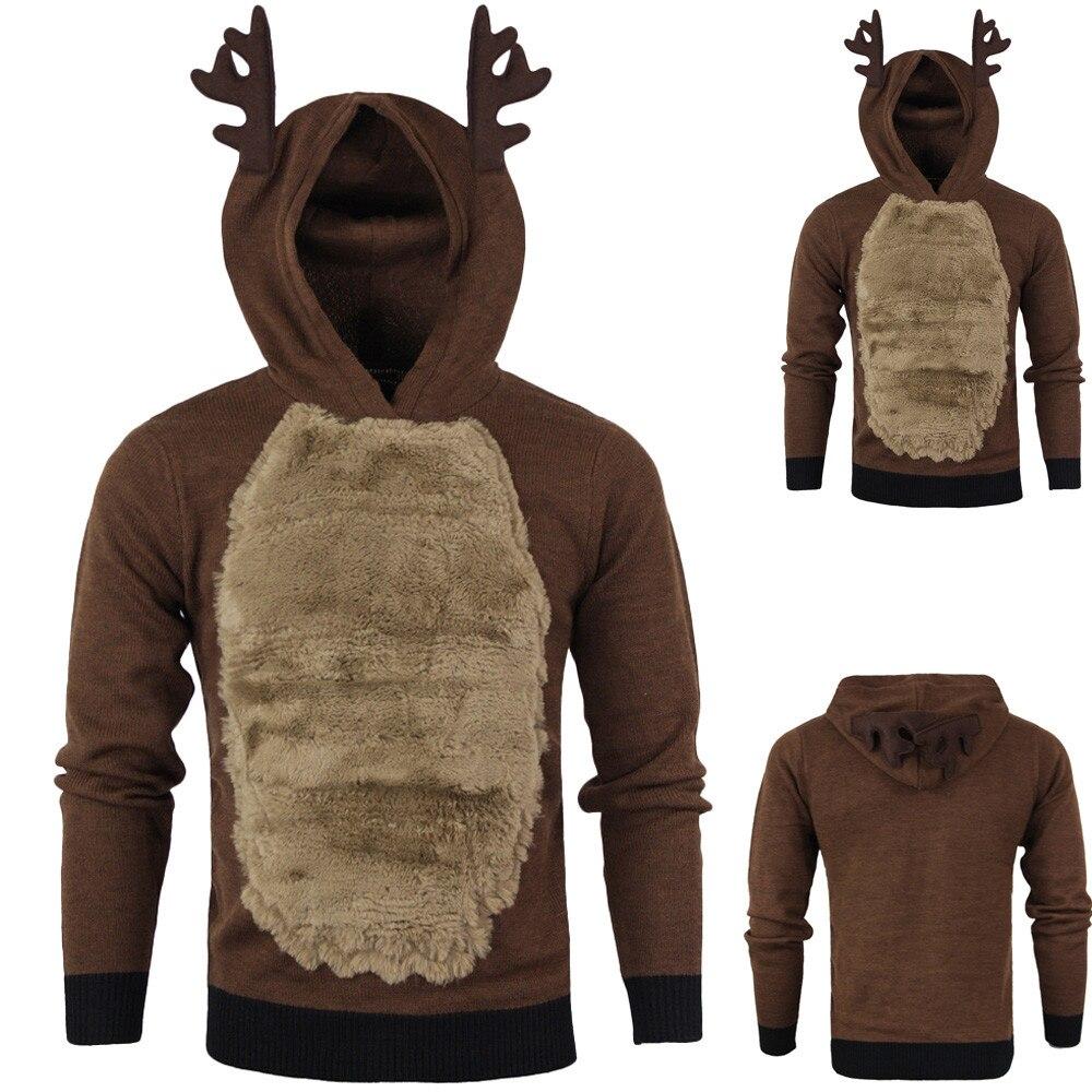 Men/Women Hoodies Sweater Christmas Kawaii Elk Cosplay Sweaters Unisex Leisure Festival Ugly Christmas Rudolph Reindeer Sweater