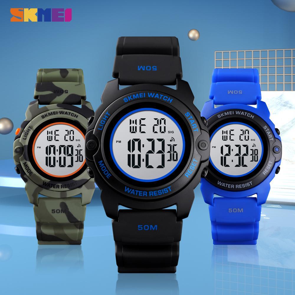SKMEI Fashion Digital Boys Watches Time Chrono Children Watch Waterproof Camo Sports Hour Clock  Boy Teenager  Wristwatch 1574