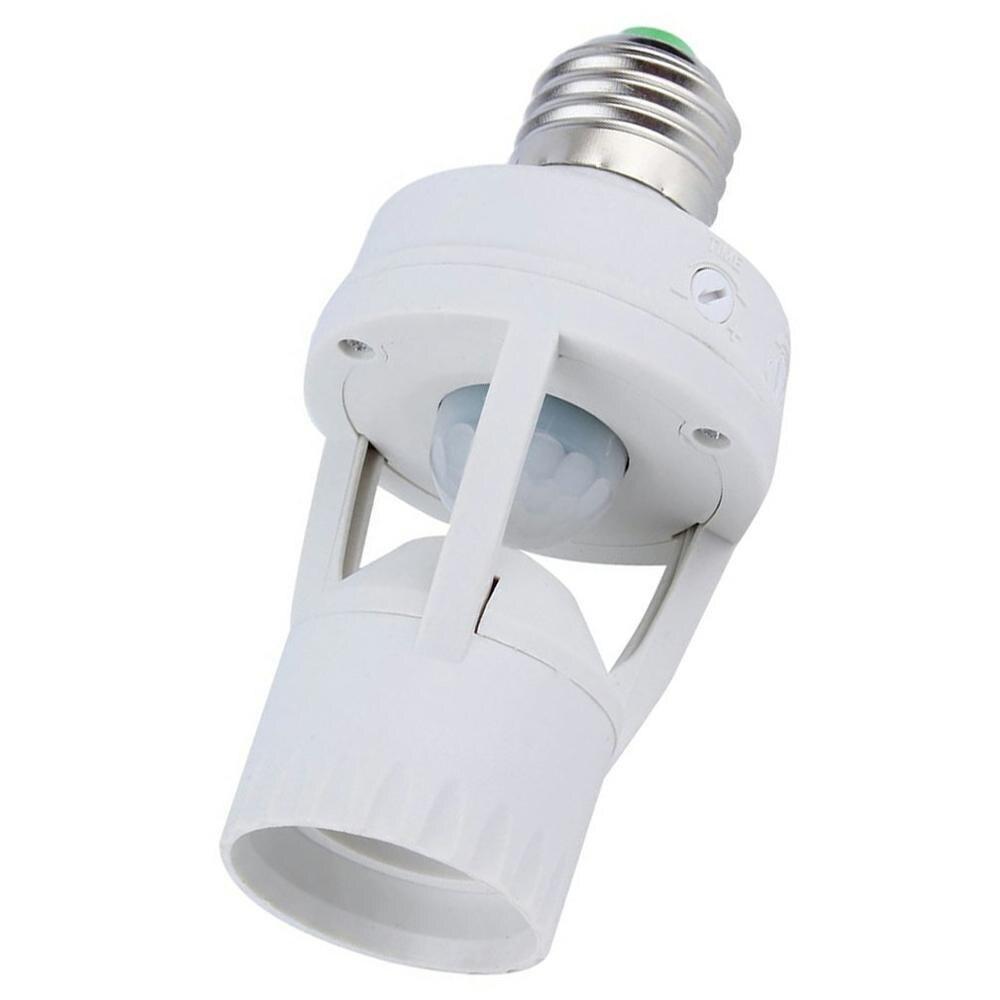 Hot Ac 110-220V 360 Degree Pir Induction Human Infrared Motion Sensor E27 Plug Base Switch Led Bulb Lamp Holder