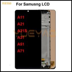 ЖК-дисплей для Samsung Galaxy A11 A21 A21S A31 A51 A71, сенсорный ЖК-экран с дигитайзером в сборе с рамкой