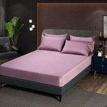60s algodão cabido folha com um elástico colchão capa cor sólida folha de cama alta qualidade algodão egípcio colcha 140x200