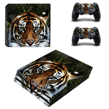 Tiger Style Skin Sticker for PS4 Pro Console And Controllers Decal Vinyl Skins Cover YSP4P-3344