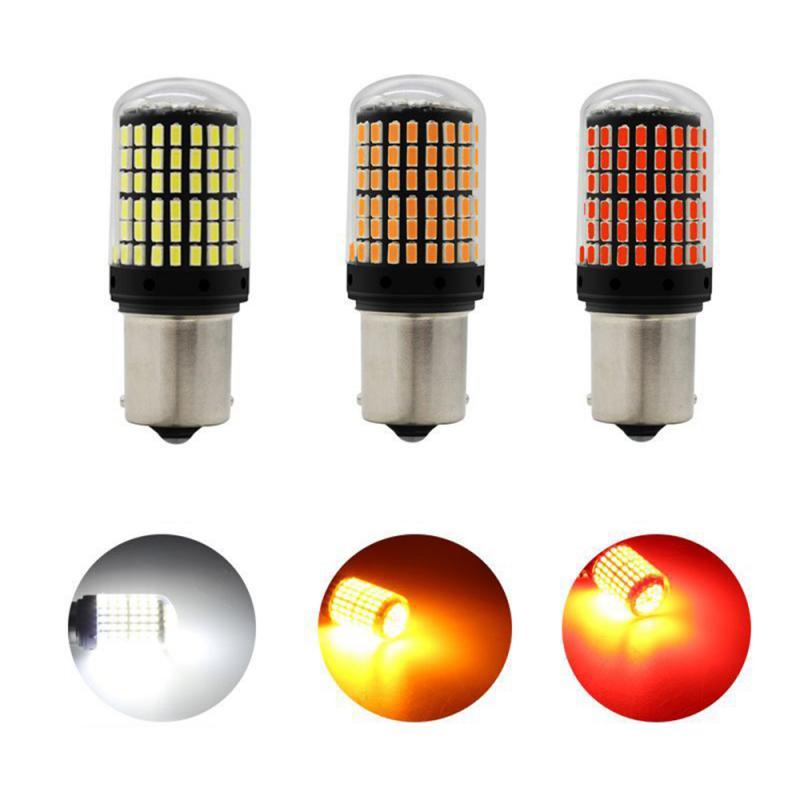 Car Light Universal LED T20 7440 W21W Tail Lights Brake Reversing Light 1156 BA15S P21W Reverse Brake Light Turn Signal Lights