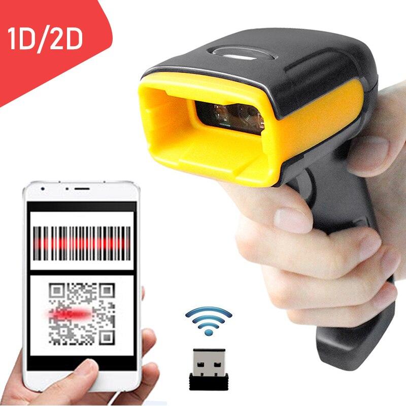 Holyhah K2 Ручной беспроводной QR сканер штрих-кода и K1 Wird 1D/2D QR считыватель штрих-кодов PDF417 для IOS Android IPAD