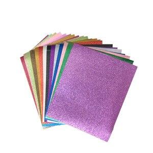 Блеск теплопроводная поливинилхлоридная Комплект В наличии 14 цветов бумага, железо на винил тепла пресс виниловые листы для DIY Футболка тек...