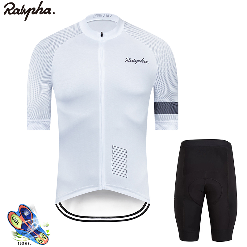 Raphaing Ropa Ciclismo Cycling Jersey Bib Shorts Set  Gel Pad Mountain Cycling Clothing Suits Outdoor Mtb Bike Wear 2019 New