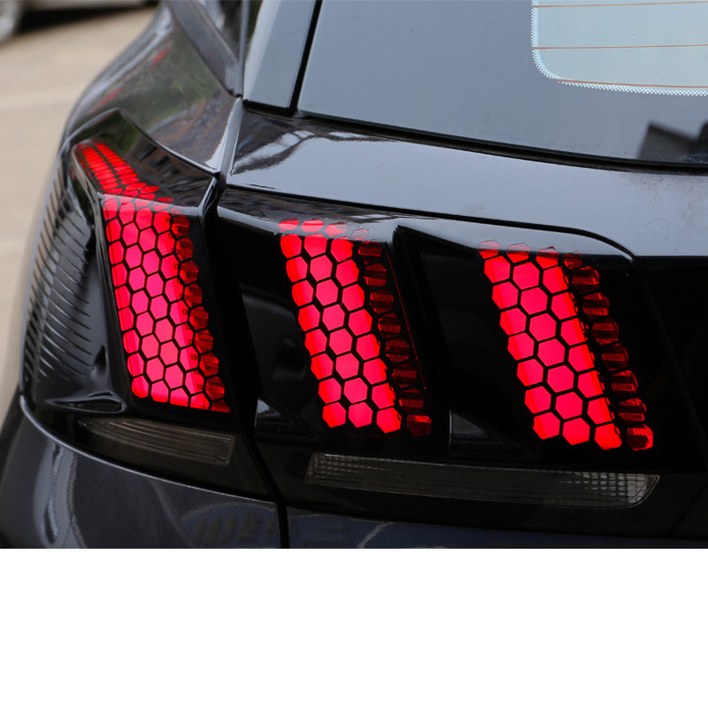 Lsrtw2017 Car Taillight Honeycomb Sticker for Peugeot 5008 3008 Styling