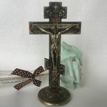 Icon of Jesus Triple Cross Round Bottom Car Decoration Home Decor  Religious Keeping Peace Christian Statue Orthodox Church Gift