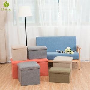 Hot Multifunctional Foldable Fabric Storage Stool Bench Box Small Sofa Minimalist Artistic Style Kid Chair Foot Stool 30*30*30CM(China)