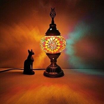 Τούρκικο μωσαϊκό επιτραπέζιο φωτιστικό vintage art deco