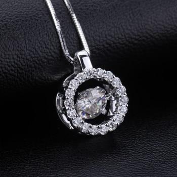 Fashion jewelry 18k White Gold moissanite stone long pendant necklace moissanite diamond jewelry for women wedding nacklace 5