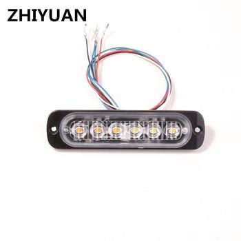 цена на Sync Led Warning Strobe Light 6W Car Styling Strobo Flashing Lights Bars For Trucks Grille Deck Signal Emergency Alarm Lamp 12v